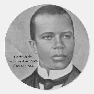 Scott Joplin Classic Round Sticker