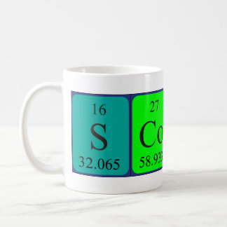 Scott periodic table name mug