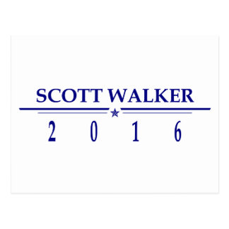 Scott Walker 2016 Postcard