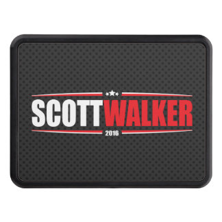 Scott Walker 2016 (Stars & Stripes - Black) Tow Hitch Covers