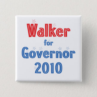 Scott Walker for Governor 2010 Star Design 2 Inch Square Button