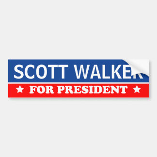 Scott Walker For President 2016 Bumper Sticker