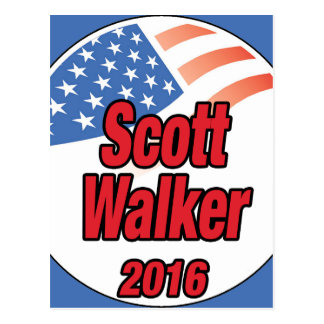 Scott Walker for president in 2016 Postcard