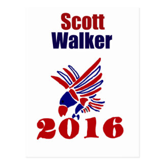 Scott Walker for President Political Art Postcard