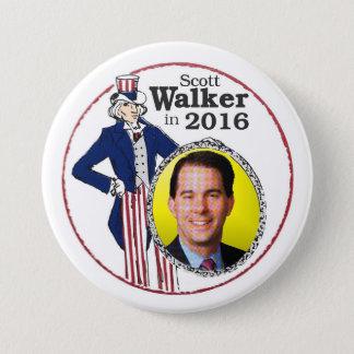 Scott Walker in 2016 3 Inch Round Button