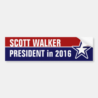 Scott Walker in 2016 Bumper Sticker