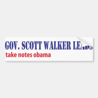 Scott Walker Leads Bumper Sticker