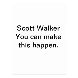 Scott Walker Postcard