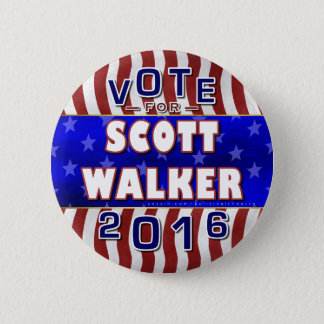 Scott Walker President 2016 Election Republican 2 Inch Round Button