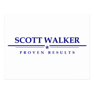 Scott Walker: Proven Results Postcard