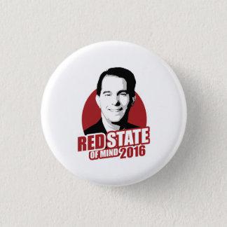 Scott Walker Red State of Mind 2016 1 Inch Round Button