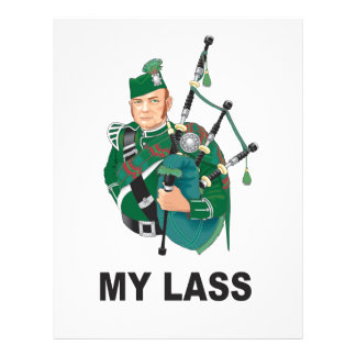 scott with bagpipe letterhead template