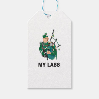 scott with bagpipe pack of gift tags