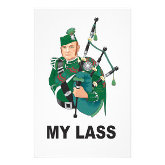 scott with bagpipe personalized stationery