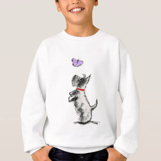 SCOTTIE AND BUTTERFLY SWEATSHIRT