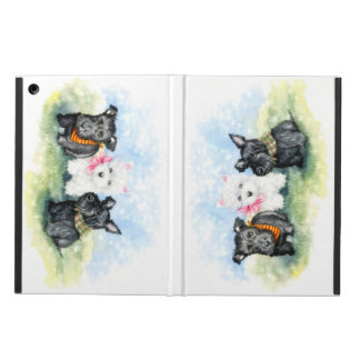 Scottie and Westie puppy magic Cover For iPad Air