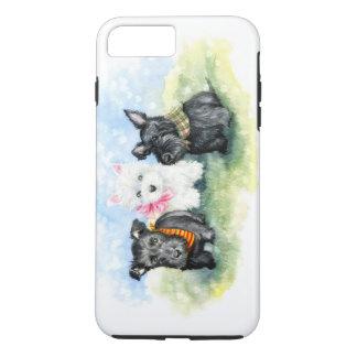 Scottie and Westie puppy magic iPhone 8 Plus/7 Plus Case