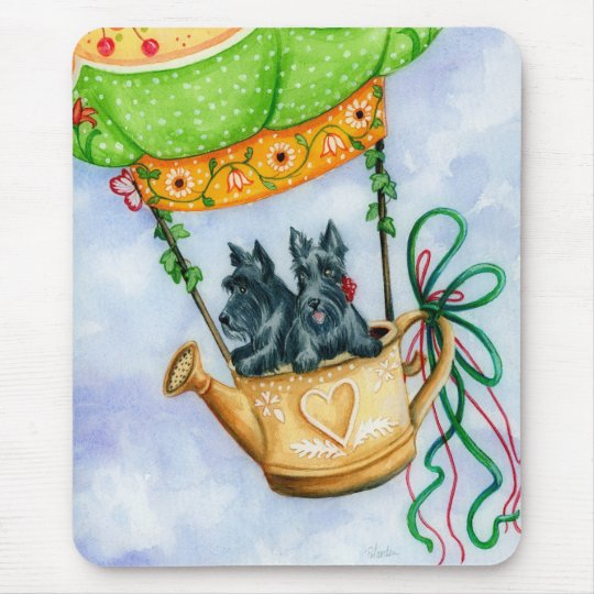 Scottie Balloon Pilots II Mouse Pad