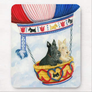Scottie Balloon Pilots Mouse Pad