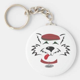 Scottie Boy Basic Round Button Keychain
