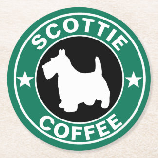 SCOTTIE Coffee Round Paper Coaster