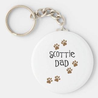 Scottie Dad Basic Round Button Keychain