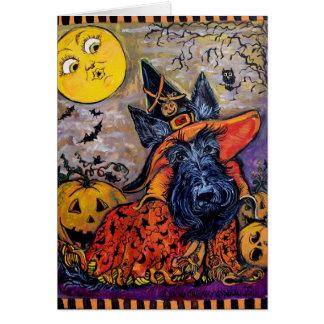 Scottie de Halloween Carte De Vœux