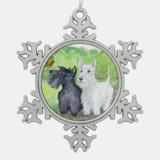 Scottie Discoveries Pewter Snowflake Ornament