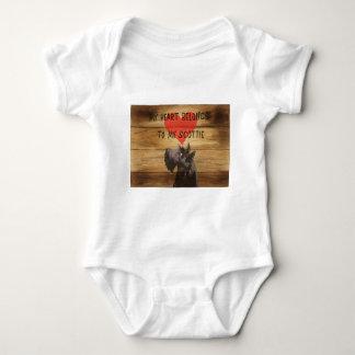 Scottie Dog Baby Bodysuit