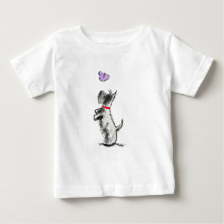 Scottie Dog & Butterfly Baby T-Shirt