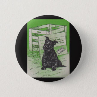 Scottie dog by special delivery 2 inch round button