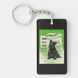 Scottie dog by special delivery Double-Sided rectangular acrylic keychain
