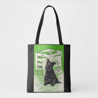 Scottie dog by special delivery tote bag