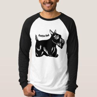 Scottie Dog Dad Men's Long Sleeve Raglan T-Shirt
