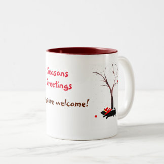 Scottie Dog Dogs are welcome! Seasonal Art Two-Tone Coffee Mug