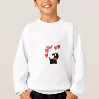 Scottie Dog Love Hearts Sweatshirt