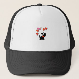 Scottie Dog Love Hearts Trucker Hat