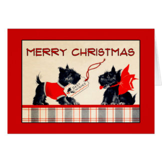 Scottie Dog Merry Christmas Christmas card
