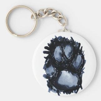 Scottie Dog Paw Basic Round Button Keychain