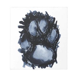 Scottie Dog Paw Notepad