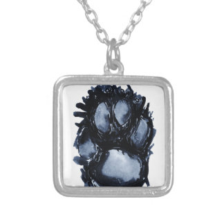 Scottie Dog Paw Silver Plated Necklace