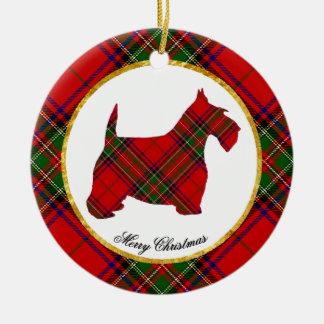Scottie Dog Personalize Ceramic Ornament