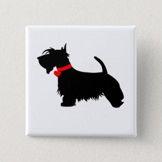 Scottie dog pin button badge