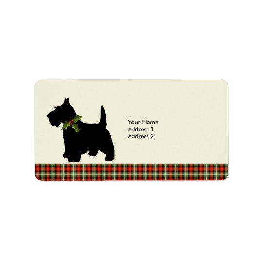 Scottie Dog Scotch Plaid Christmas Custom