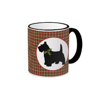 Scottie Dog Scotch Plaid Christmas Coffee Mug