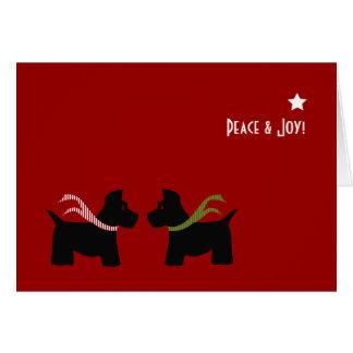 Scottie Dog Seasons Greetings Card