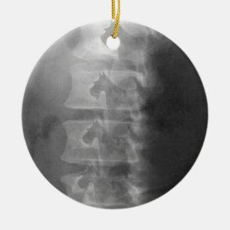 scottie dog syndrome ceramic ornament