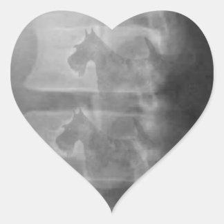 scottie dog syndrome heart sticker