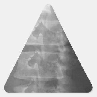 scottie dog syndrome triangle sticker