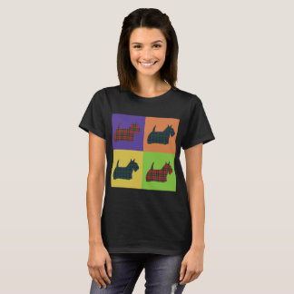 Scottie Dog - Tartan - Pop Art Style T-Shirt